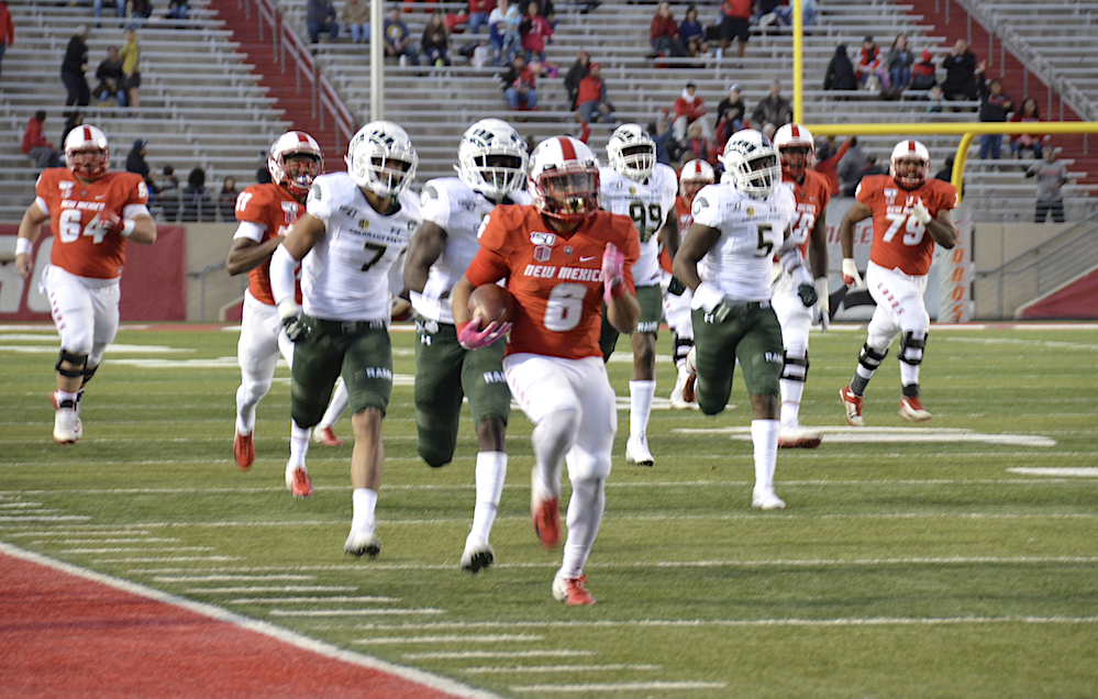 Lobos rushing for first MW win