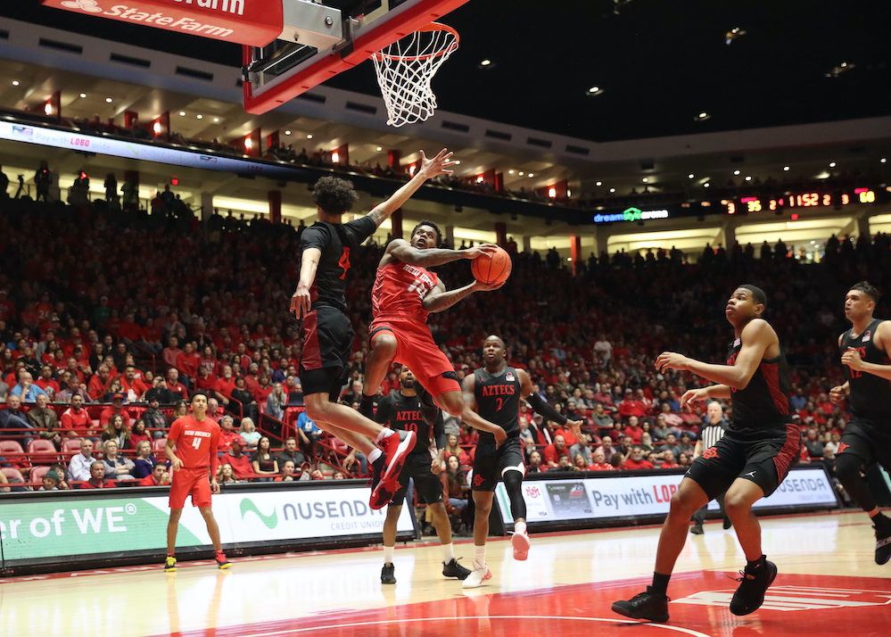 SDSU wins regular season title, Lobos suffer 23-point loss